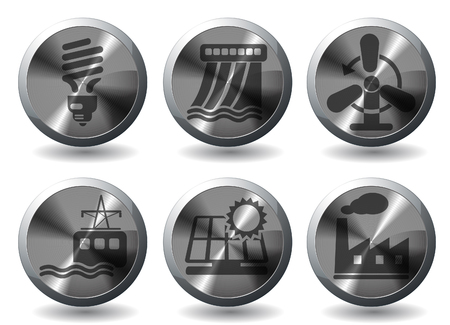 Icon Set, Energy and Industry Stock Vector - 28642051