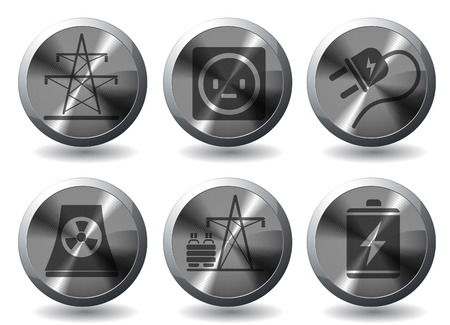 Icon Set, Energy and Industry Stock Vector - 28642052