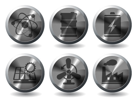 Icon Set, Energy and Industry Stock Vector - 28642054