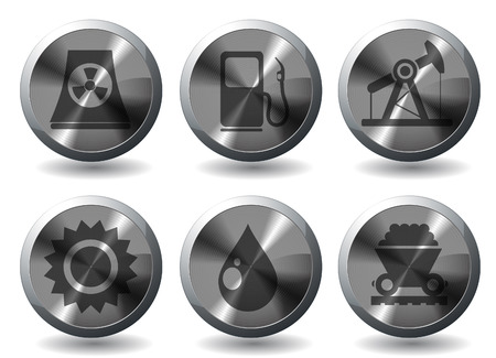 Icon Set, Energy and Industry Stock Vector - 28642056
