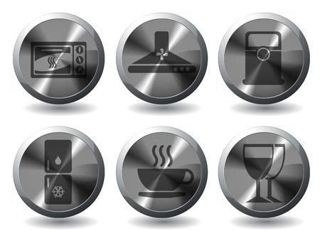 Utensilios de cocina Icon Set Vectores