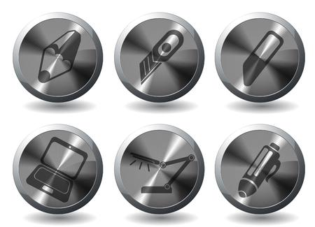 box cutter: Negocio simples iconos vectoriales