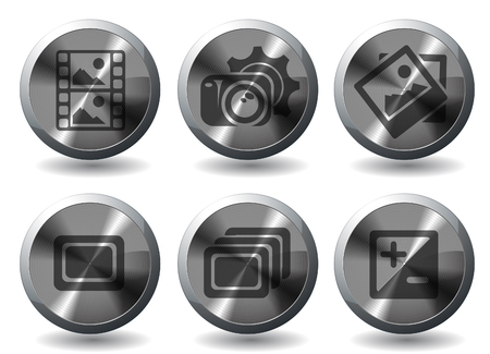 Modes of Photo Silhouette Icons