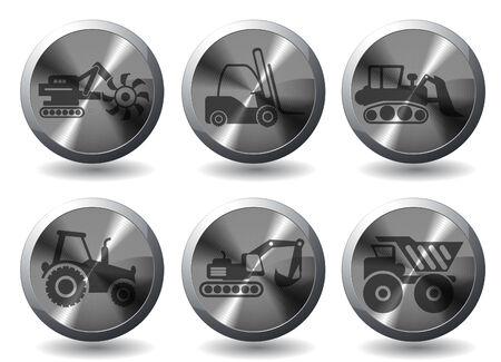 Symbols of Transportation & Loading Machines Vector