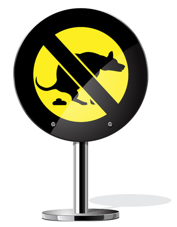 Pasear al perro est� prohibido Vectores