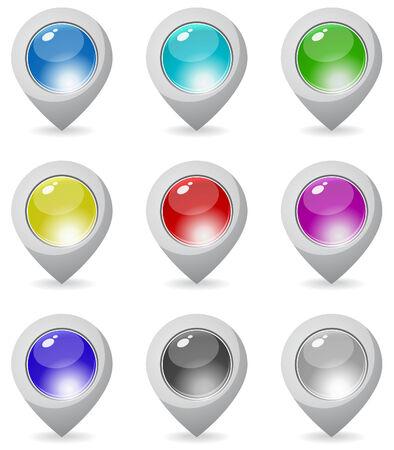 pointer stick: Colore mappa puntatore Vettoriali