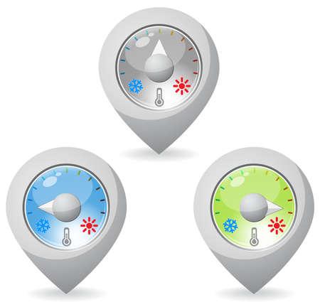 pointer stick: Temperatura mappa pointer