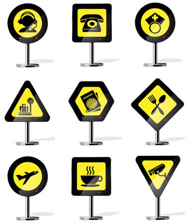 pointer stick: Icone Segnaletica stradale