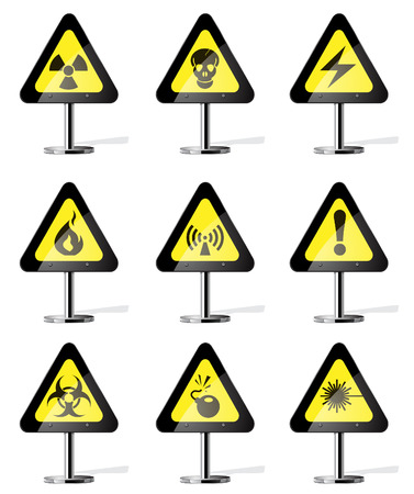 Hazard Sign Icons Stock Vector - 28773978