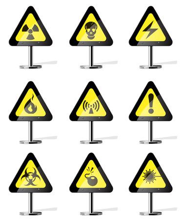 laser hazard sign: Hazard Sign Icons