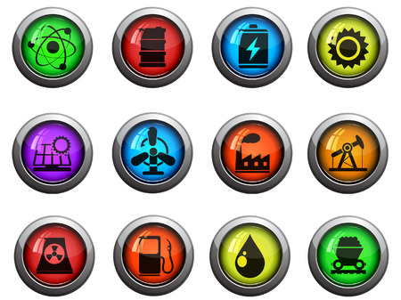 Icon Set, Energy and Industry Stock Vector - 28934793