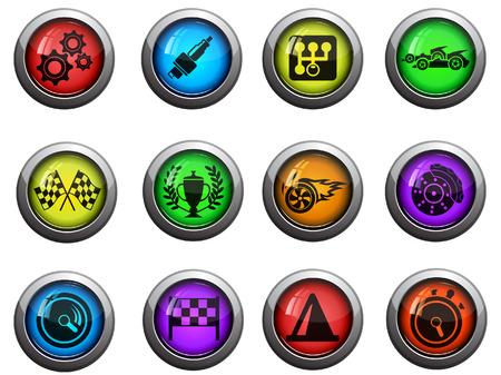 Iconos de carreras Vectores