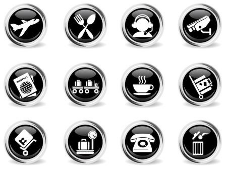 Iconos del aeropuerto Vectores