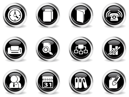 Business vector icons Vector