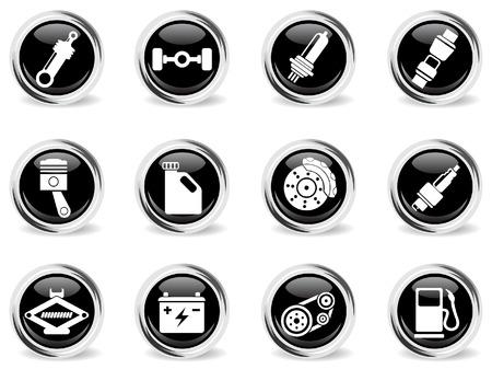 Auto Service Icons Vector