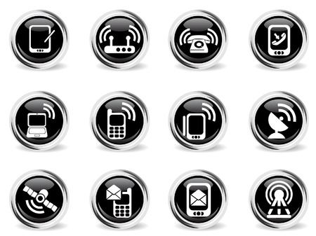 clipping  messaging: Mobile Icons