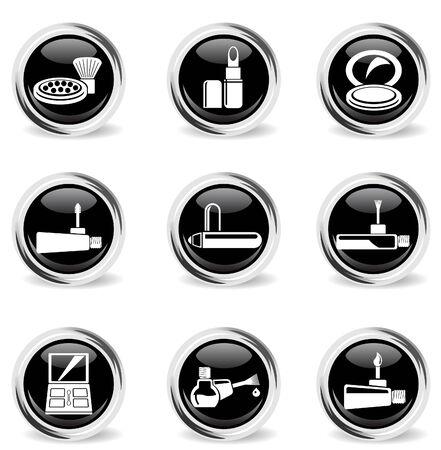 briliance: make-up products chrom icons