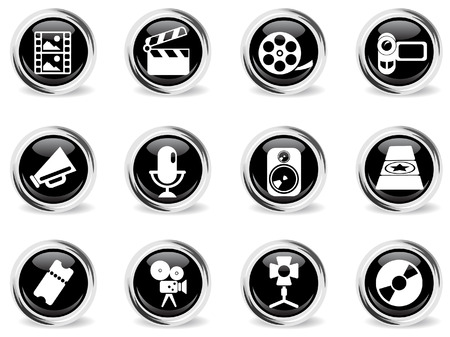 Film Industry Icons Stock Vector - 28962611