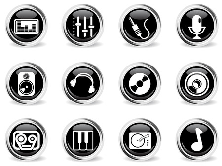 Audio & music vector icons Vector