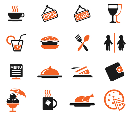 woman credit card: Cafe Silhouette Icons
