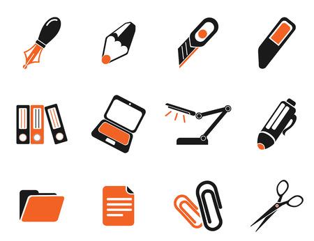 box cutter: Oficina simples iconos vectoriales Vectores