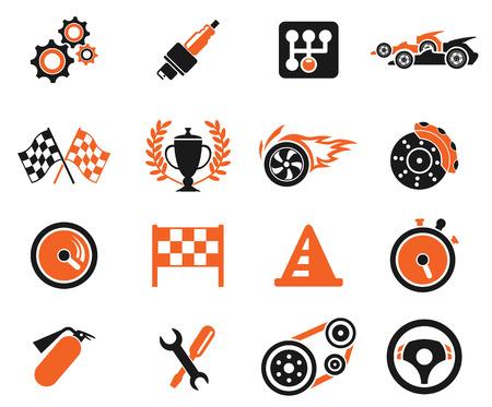 Racing pictogrammen Stockfoto - 29202175