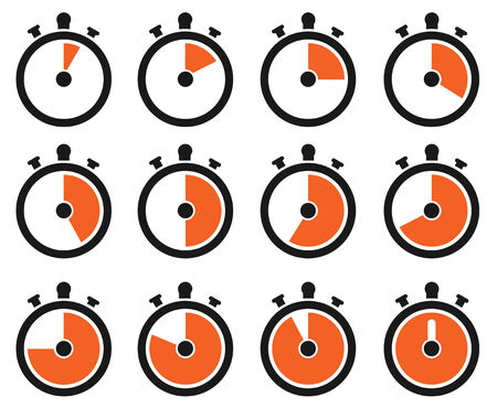 Timer pictogrammen Stock Illustratie