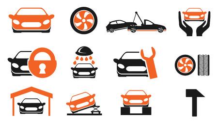 car services icon set Vector