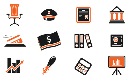 vaulted door: Finance Icons Illustration