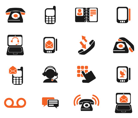 answering phone: Telephone Icons