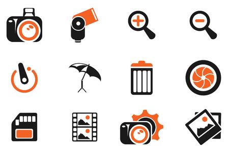 Fotograf�a Iconos de la silueta