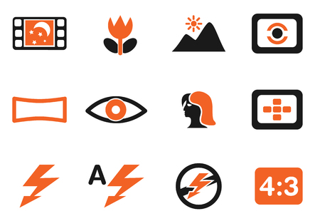 modes: Modes of Photo Silhouette Icons