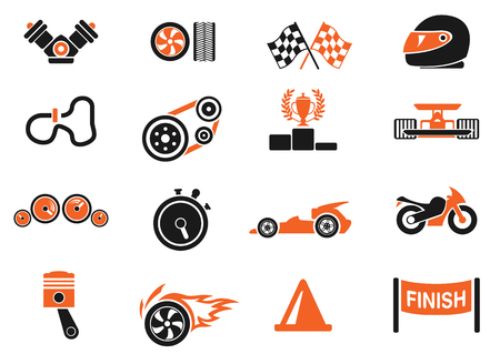 Racing icons Vector