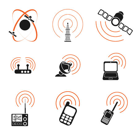 Radio signal simple vector icons Vector