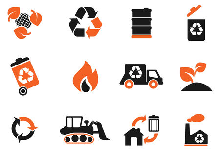 fire damage: Recycle Symbols Illustration