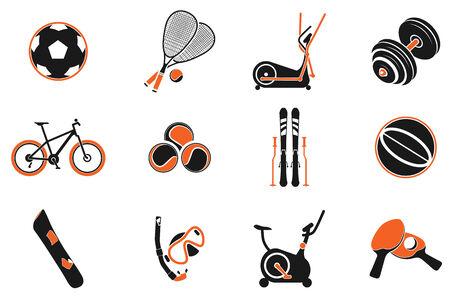 oxygen mask: Sport equipment symbols Illustration