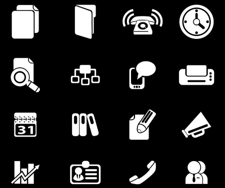 Business simple vector icons Vector