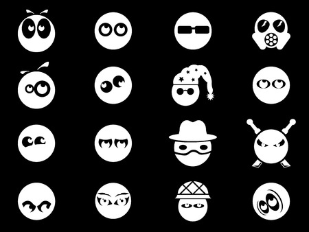 character traits: Emotions and glances icons