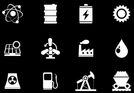 oliedrum: Icon Set, Energie en Industrie