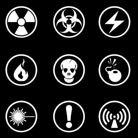 Los iconos de peligro Se�al Vectores