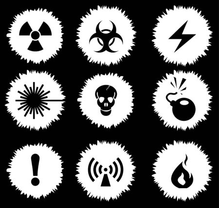 chemical weapon symbol: Hazard Sign Icons