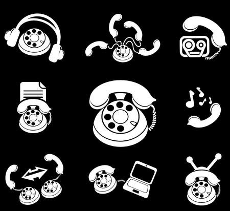 ring tones: Telephone Icons