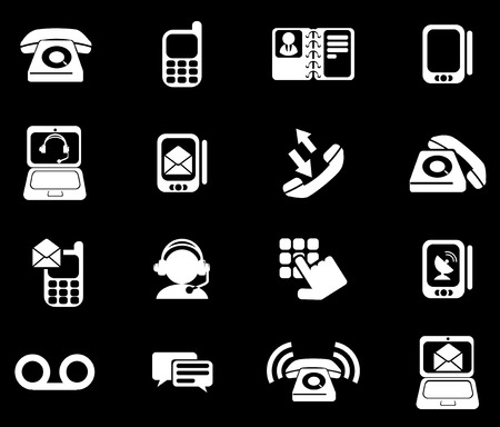 clipping  messaging: Telephone Icons