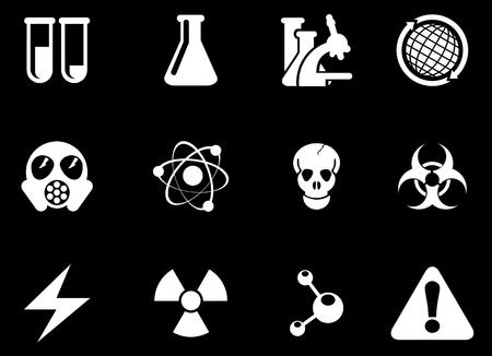 gas mask warning sign: Science Symbols