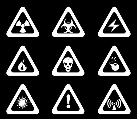 Hazard Sign Icons Stock Vector - 30136088