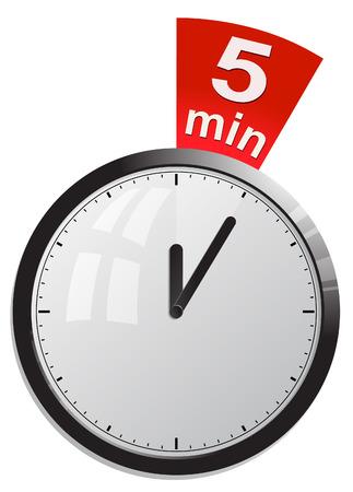 5 分タイマー  イラスト・ベクター素材