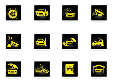seguros autos: Seguros de coches Icons