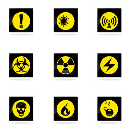 chemical weapon sign: Hazard Sign Icons
