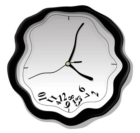 pm: Vector illustration of clock