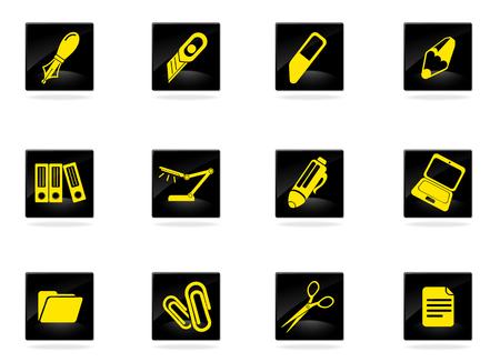 correttore: Icone di attrezzature per ufficio